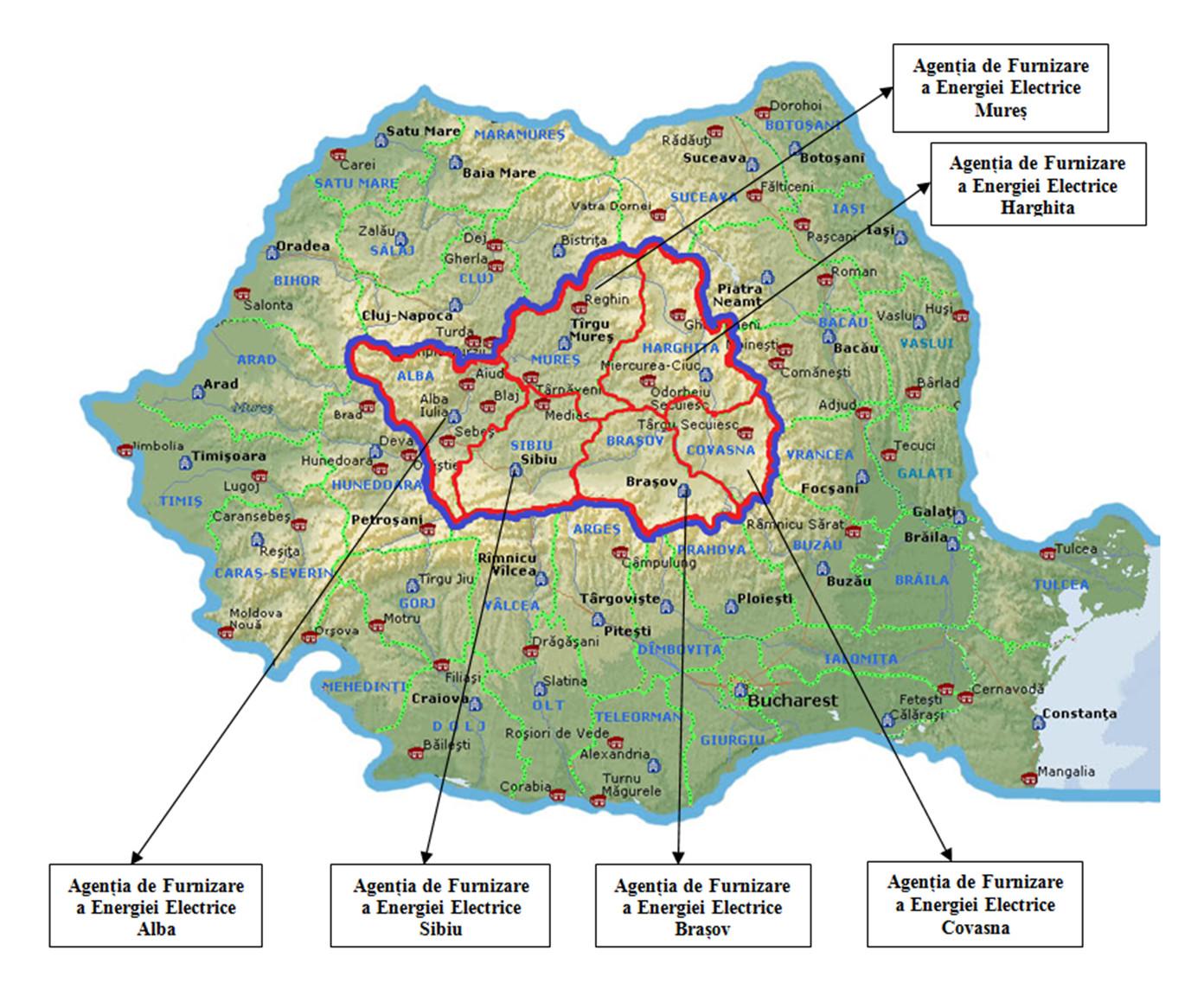 harta sucursala transilvania sud brașov